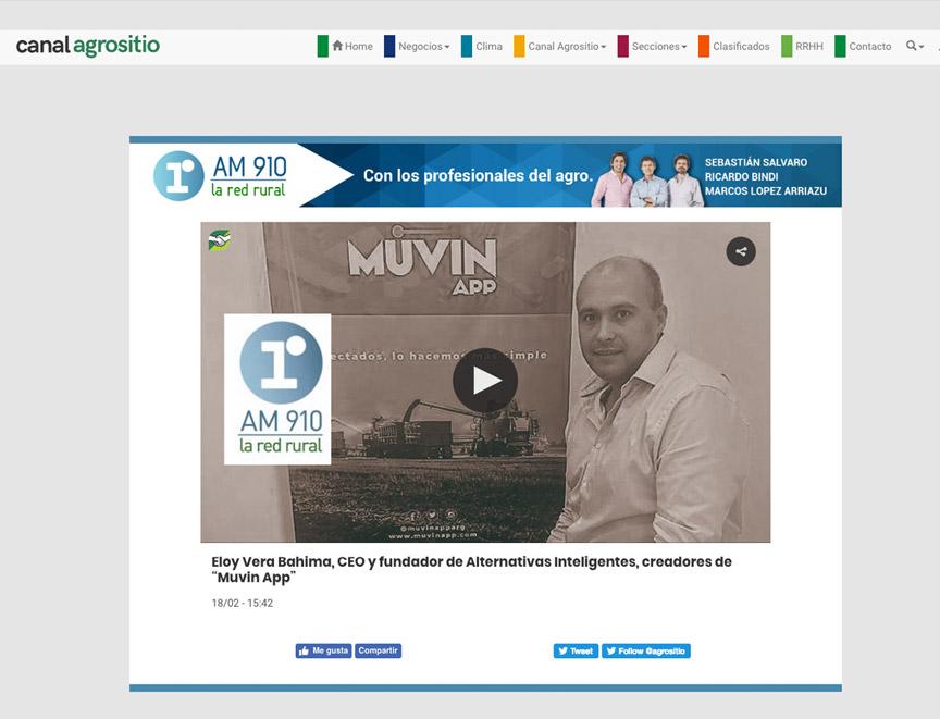 """Eloy Vera Bahima, CEO y fundador de Alternativas Inteligentes, creadores de """"Muvin App"""""""