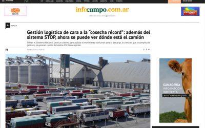 """Gestión logística de cara a la """"cosecha récord"""": además del sistema STOP, ahora se puede ver dónde está el camión"""