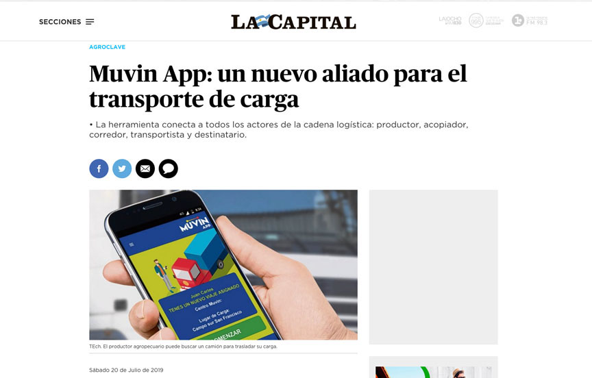 Muvin App: un nuevo aliado para el transporte de carga